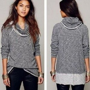 Free People Beach Gray Cocoon One Size Sweater